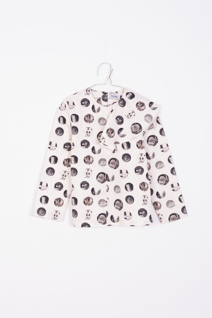 Stella Baby Blouse Black Dots print