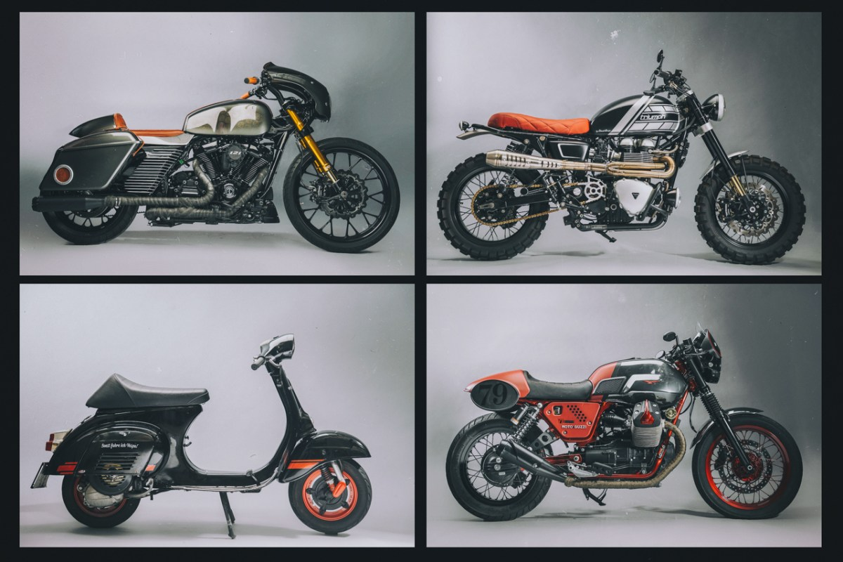 73 Vintage Moto Art: motos, arte y rock n' roll
