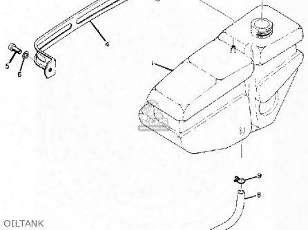 CB 750 K2 oil flow Engine Cb750 Sketches Diagram t