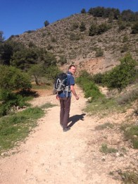 The climb begins, Sierra Espuña