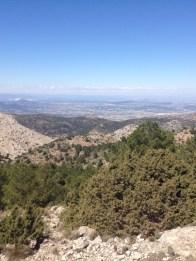 We could see for miles, Sierra Espuña