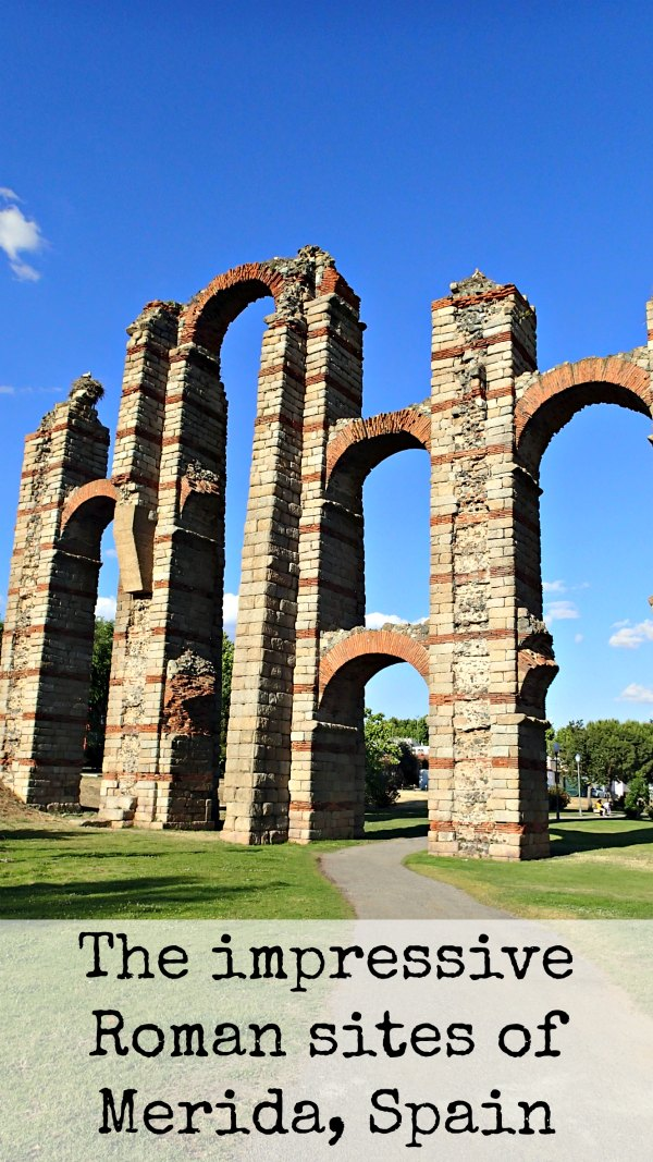 Merida in Spain has an impressivev Roman past and a huge number of amazing Roman sites and ruins you can visit. Here are our recommendations and highlights of two days in Merida. MotorhomeEurope.com #Merida #Spain #RomanRuins #MotorhomeEurope #TravelBlog