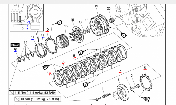 Clutch replacement R1 2007