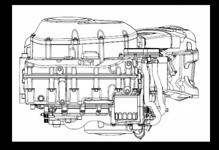 Detailed drawings of a new Harley-Davidson's engine