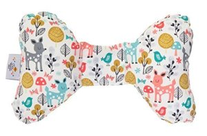 Baby car head and neck support pillow resembling elephant ears