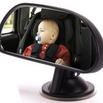 Deezio baby car mirror for car with no backseat headrest