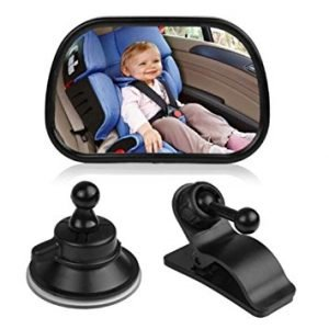 E-Bro No Headrest Universal Car Rear Seat View Mirror