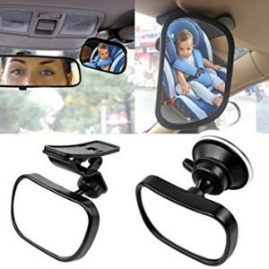 KOBWA Rear Facing Back Seat Mirror for Infants and Toddlers
