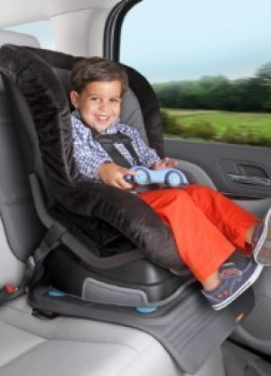 Car seat protector with front of seat cover