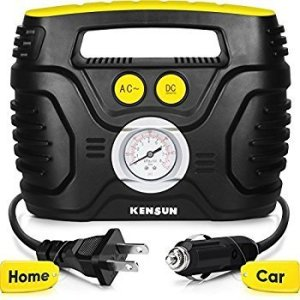 Kensun AC and DC Swift Performance Portable Air Pump for Home and Car, battery powered air compressors