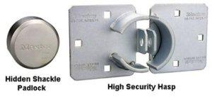 how to lock a hidden shackle padlock