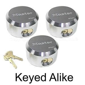 Master Lock - Hidden Shackle Locks Keyed Alike 6271KA-3, best storage unit padlock with hidden shackle