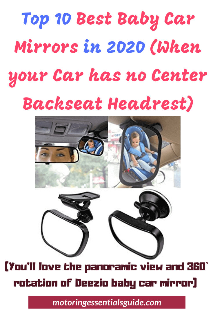 Clip to Sun Visor Or use 2 in 1 Baby Car Mirror Safety Child Rear View Mirror