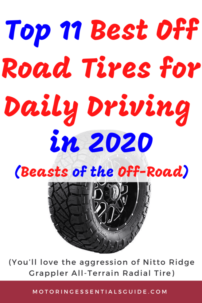 curated list of the best off road tires for daily driver, best off road tires, best all terrain tires