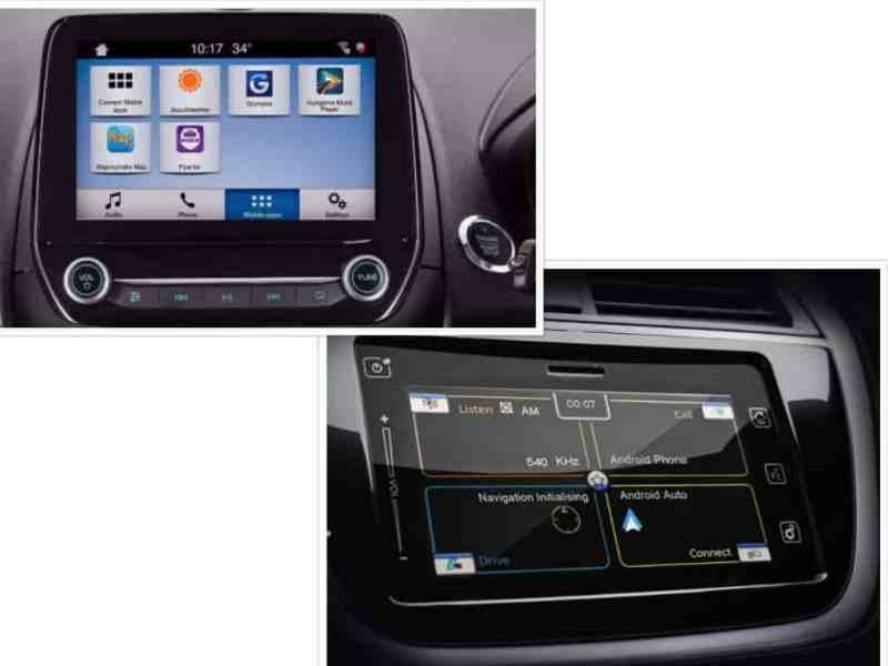 Ford EcoSport vs S Cross Maruti Touchscreen Infotainment
