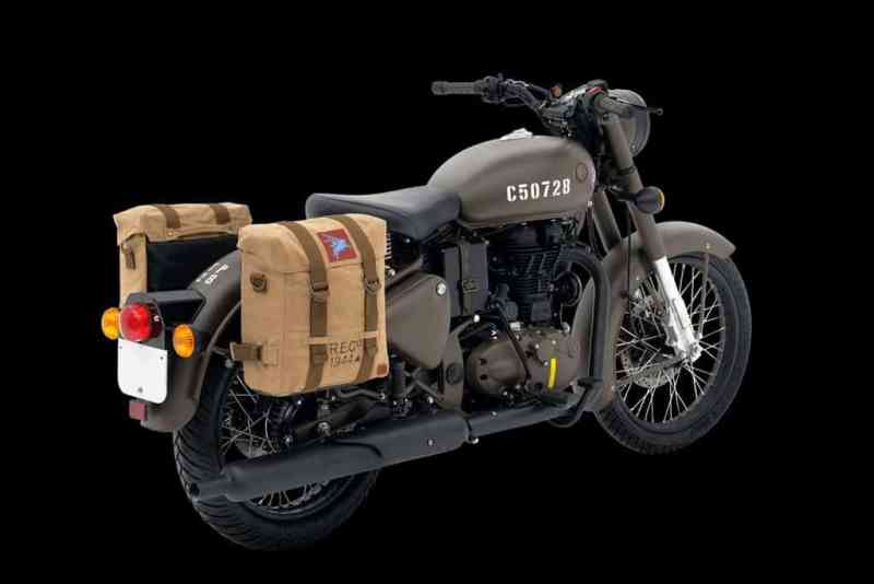 military inspired modern motorcycle- classic 500 pegasus