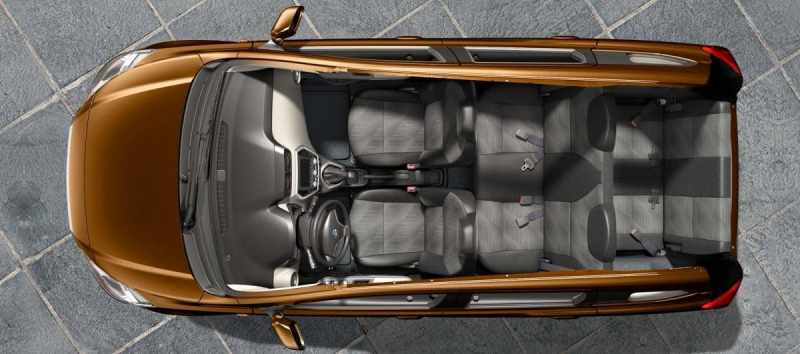 seating layout of datsun go plus