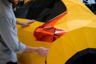 Lebensgroßes Oregami Modell des Nissan Juke