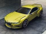 Der neue BMW 3.0 CSL Hommage – Windleiter auf den vorderen Kotflügeln und der typische schwarze Seitenstreifen erinnern an das Vorbild.