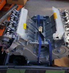 rebuilt remanufactured 5 4 liter sohc v8 ford mod engine external parts plastic intake manifold exhaust manifolds water pump intake runner motor  [ 2048 x 1152 Pixel ]
