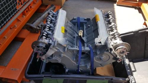 small resolution of rebuilt remanufactured 5 4 liter sohc v8 ford mod engine external parts plastic intake manifold exhaust manifolds water pump intake runner motor
