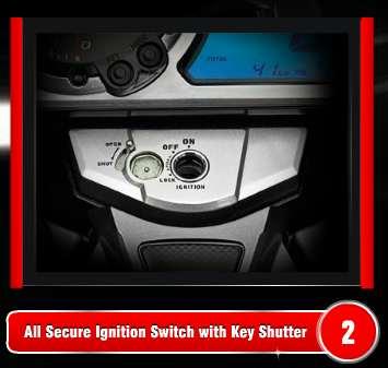 Hero Honda CBZ Xtreme ignition key shutter