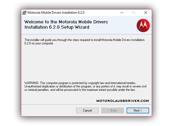 Motorola Driver v6.2.0