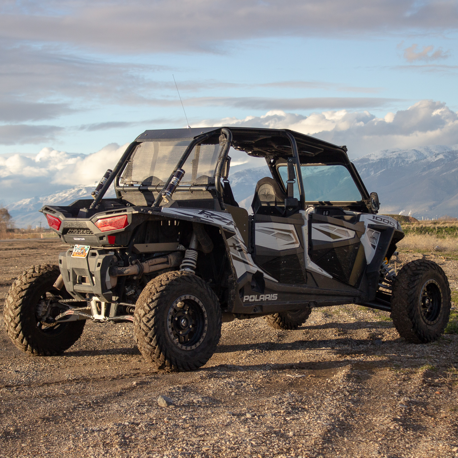 Rear Window Full Cover Polaris Rzr 2 4 Door Black