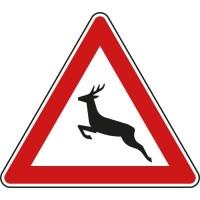 Verkehrsschild Warnung vor Wildwechsel
