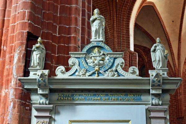 Kanzelaufgang der St. Johanniskirche in Werben an der Elbe, entdeckt bei einer Romanik-Motorradtour