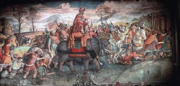 Alpenüberquerung Hannibals mit seinem karthagischen Heer