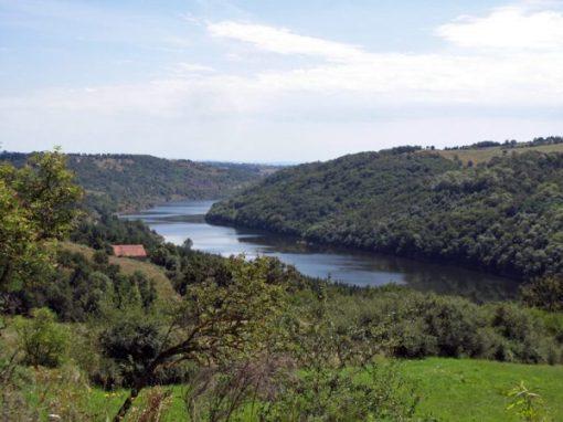 Obere Loire bei Roanne, bildliche Darstellung der Flussandschaft
