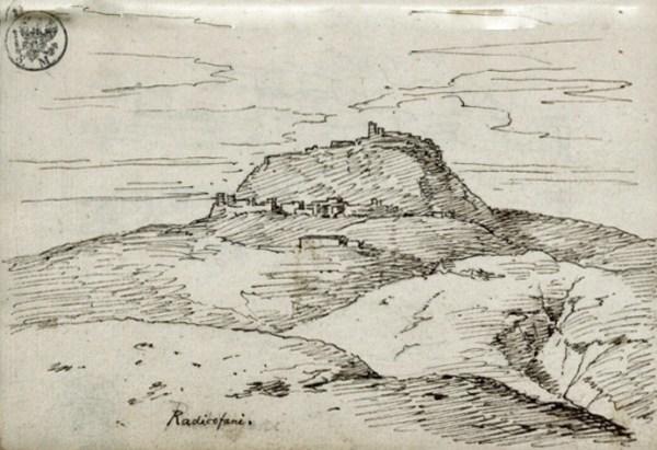 Ansicht von Radicofani im Süden der Toskana