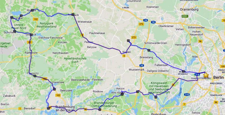 Streckenplan der Motorrad-Hausrunde im Abseits