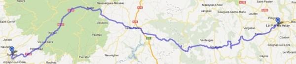 2. Etappe einer Motorradtour Südwestfrankreich Teil 1 von Puy-en-Velay nach Aurillac