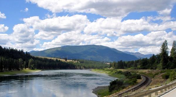 Clark Fork Valley in Montana bei einer Motorradtour Rocky Mountains