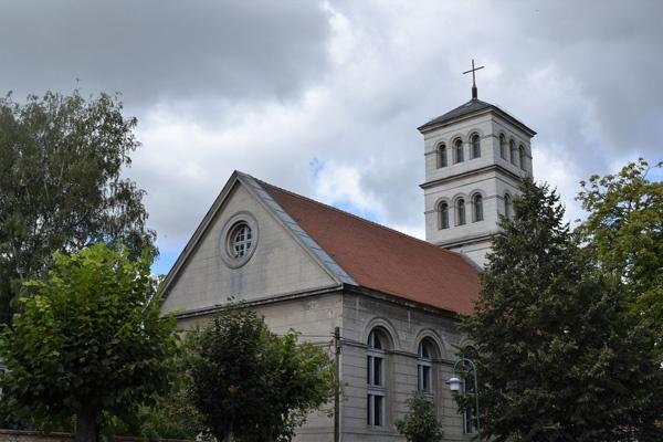 Dorfkirche Tarmow in Brandenburg nach Entwürfen von Karl Friedrich Schinkel, besucht bei einer Motorrad-Pilgertour nach Bad Wilsnack