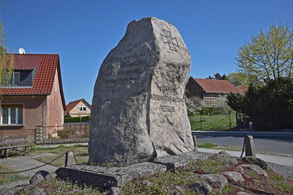 Gedenkstein an die Befreiungskriege von 1813 in Sperenberg (Brandenburg)