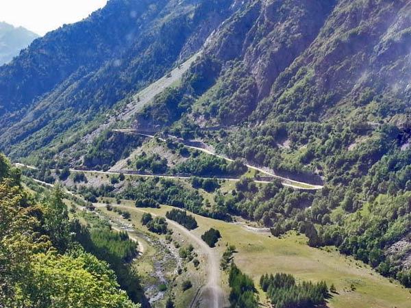 Motorradtour zum Croix de Fer und Galibier: Auffahrt zum Col du Galibier