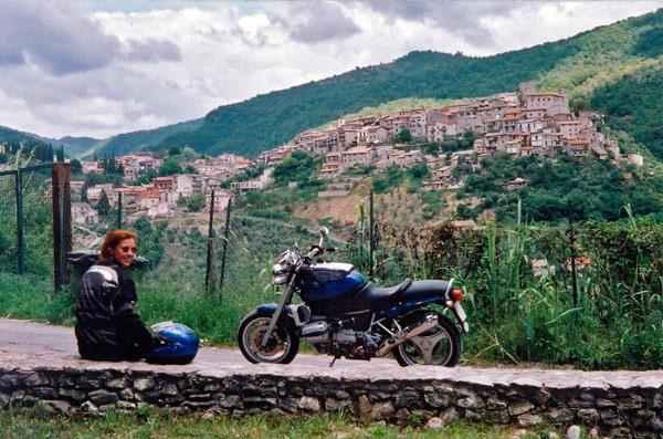 Blick von der Villa di Orazio ins Tal