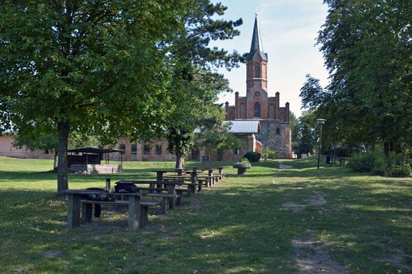 Klosterruine Altfriedland in Brandenburg, besucht bei einer Motorradtour in das Oderbruch