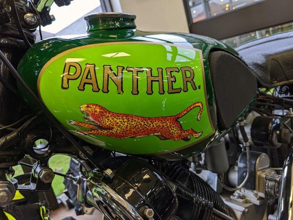 Motorrad Panther M 50 (1930) Teilansicht Tank