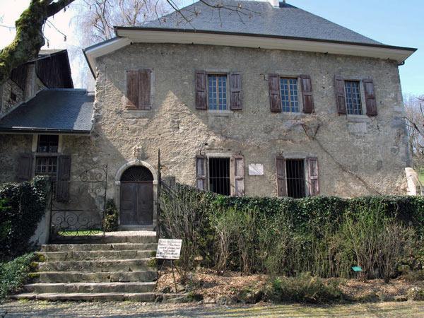 Wohnhaus Les Charmettes des Philosphen Jean-Jacques Rousseau in Chambéry