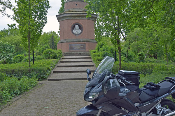 Siegessaeule fuer die schlacht bei fehrbellin in brandenburg 1675