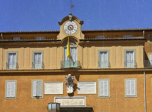 sommerresidenz des papstes in castel gandolfo