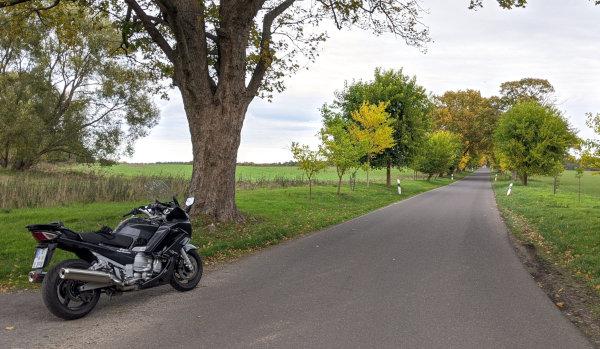 motorrad-seentour in brandenburg: zernikow maulbeerallee motorrad