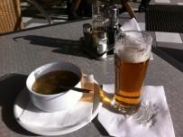 Bier für die Sozia - Suppe für den Fahrer