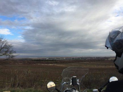 Blick vom Ruster Hügelland zum Neusiedlersee