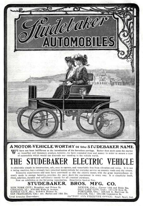 Studebaker Electric Automobiles - 1902