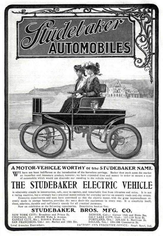 Studebaker Electric Automobiles - 1902